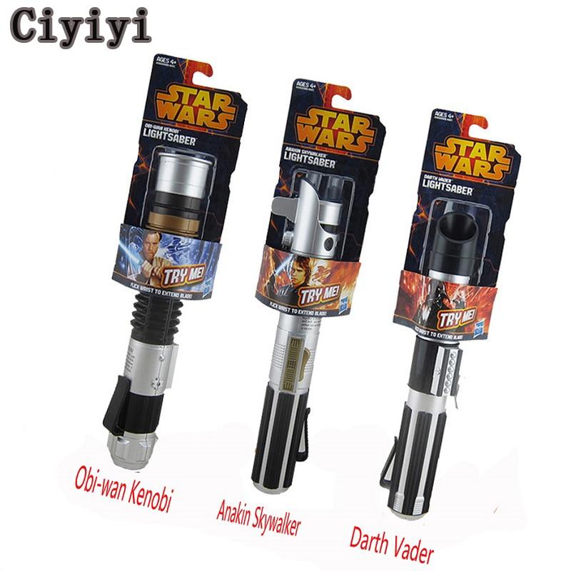 Star War Obi-wan kenobi Anakin Skywalker Darth Vader Cosplay Light Saber 80cm Telescopic ...