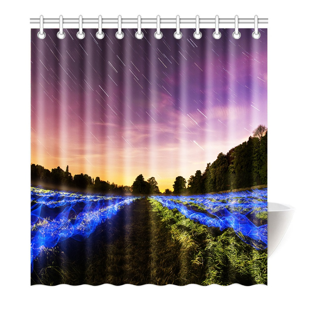 Shower Curtain Meteor shower sky Printing Waterproof Mildewproof Polyester Fabric Bath Curtain Bathroom