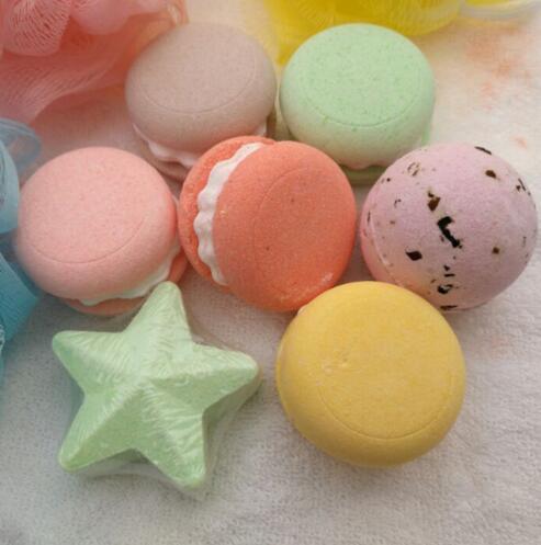 APINKGIRL 1pc Organic Bath Salt Bombs Skin Care Oil Sea Salt Handmade Bath Bombs Gift Set