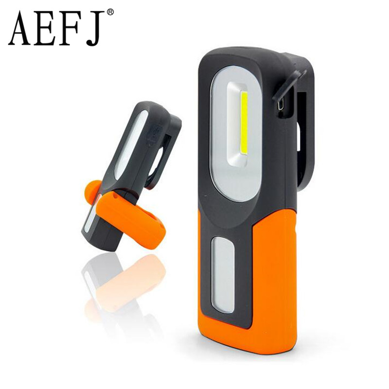 20W COB LED Flashlight Torches Red Outdoor Handy Light Portable Rechargeable Work Camping Energy Saving Lamp With Magnet Hook