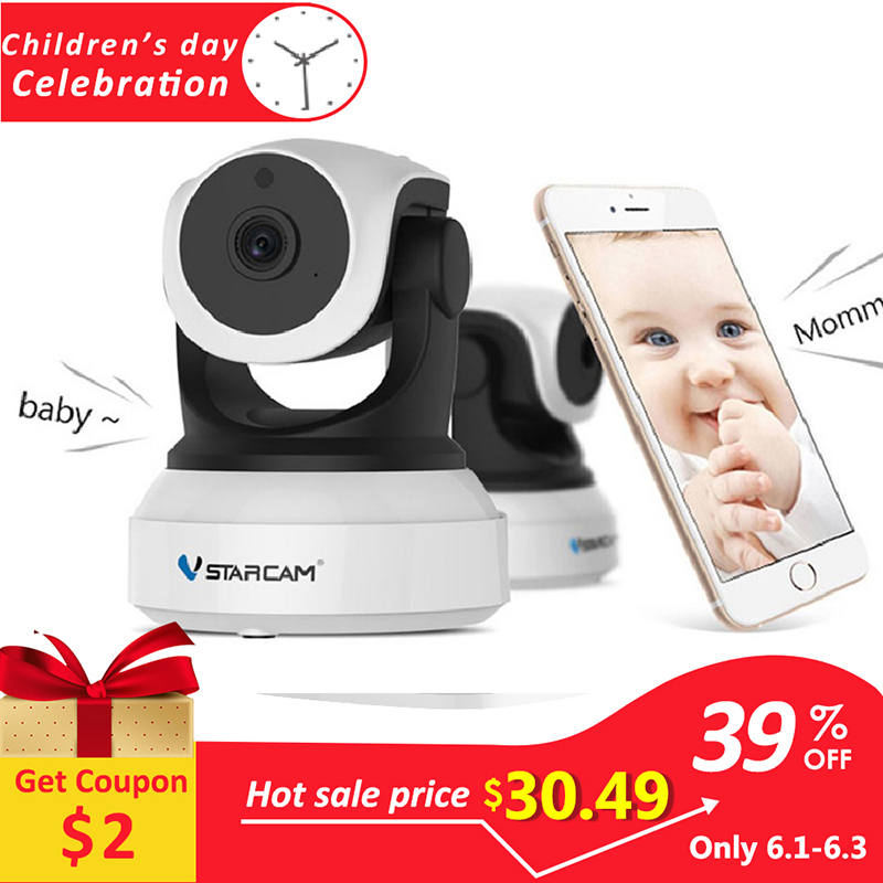 Vstarcam C7824WIP 720P HD WIFI IP Camera Night Vision home Security Camera Wireless P2P Indoor IR cam PTZ IP Camara Audio ONVIFVstarcam C7824WIP 720P HD WIFI IP Camera Night Vision home Security Camera Wireless P2P Indoor IR cam PTZ IP Camara Audio ONVIF