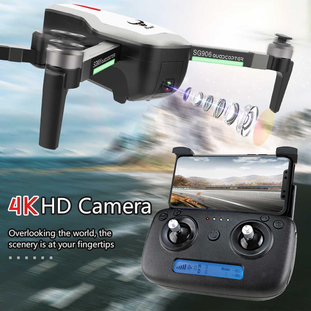 4 k câmera hd zangão 5g wifi rc quadcopter zangão câmera de vídeo fpv helicóptero brinquedo zangão para crianças brinquedos dron sg906 rc drones vs b4w