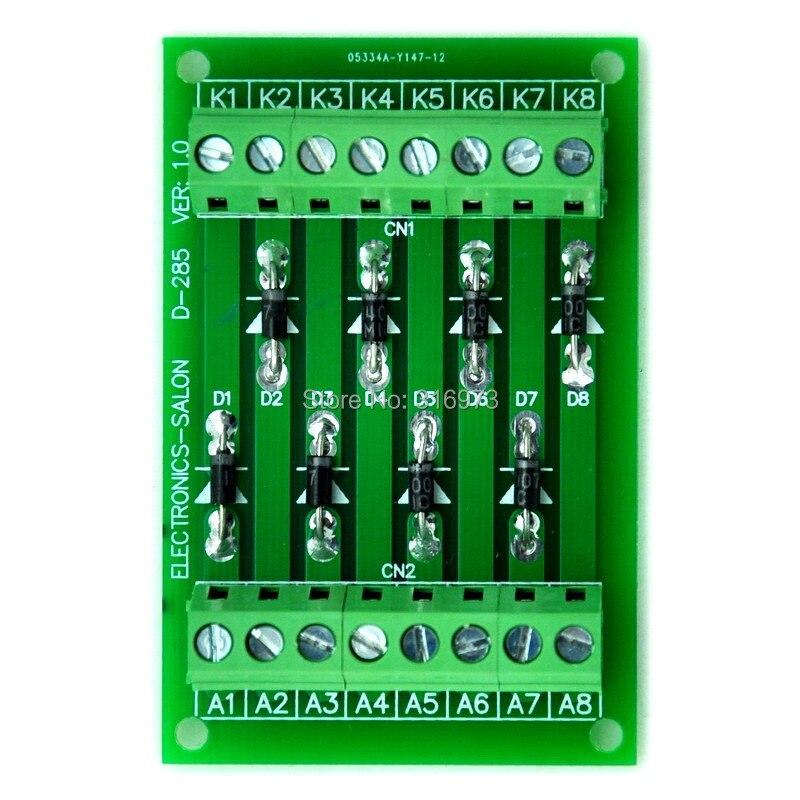 1 Amp 1000V 8 Individual Diode Module Board, 1N4007.