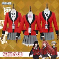 Volle Set JP Anime Kakegurui Cosplay Kostüm Halloween Jabami Yumeko Cosplay Kostüm Igarashi Sayaka COSPLAY 2019 schuluniform