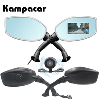 Kampacar 3 Inch Motorcycle Camera Car Dvr For Motorcycle Rearview Mirror Camera Auto 2 DVRs Motorcycle Dvr Camera Video Recorder