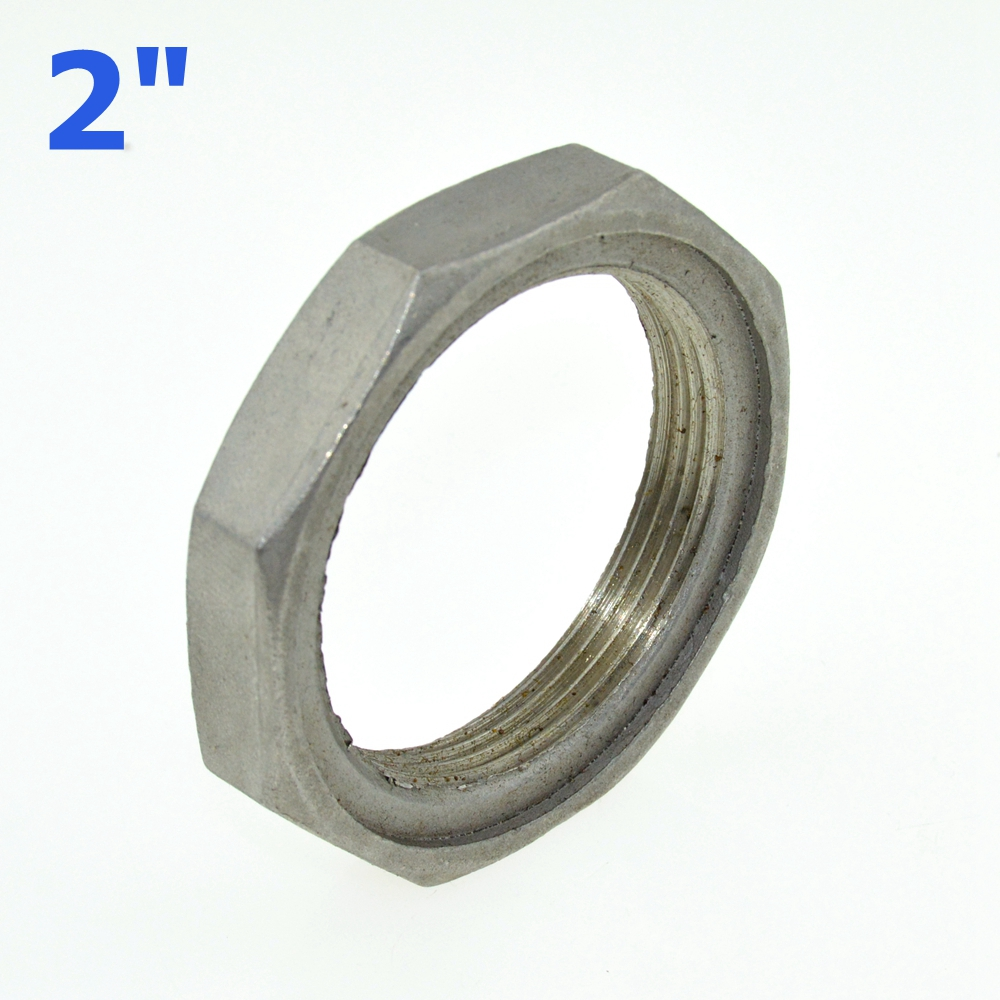 2pcs 2 dn50 thread nuts metal lock nut inner dia o ring groove ss pipe fittings 304ss. Black Bedroom Furniture Sets. Home Design Ideas