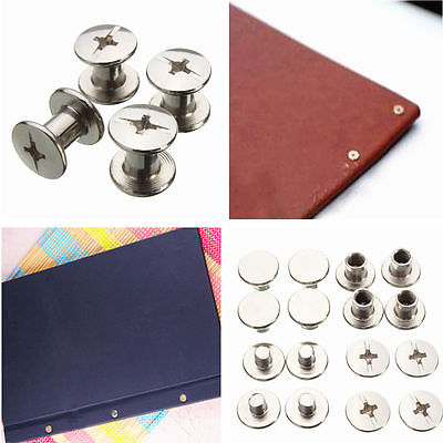 100PCS Nickel Binding Chicago Screws Nail Rivets Photo Album Leather Craft 5x6mm uxcell 10pcs 5mmx10mm nickel plated binding chicago screw post for album scrapbook