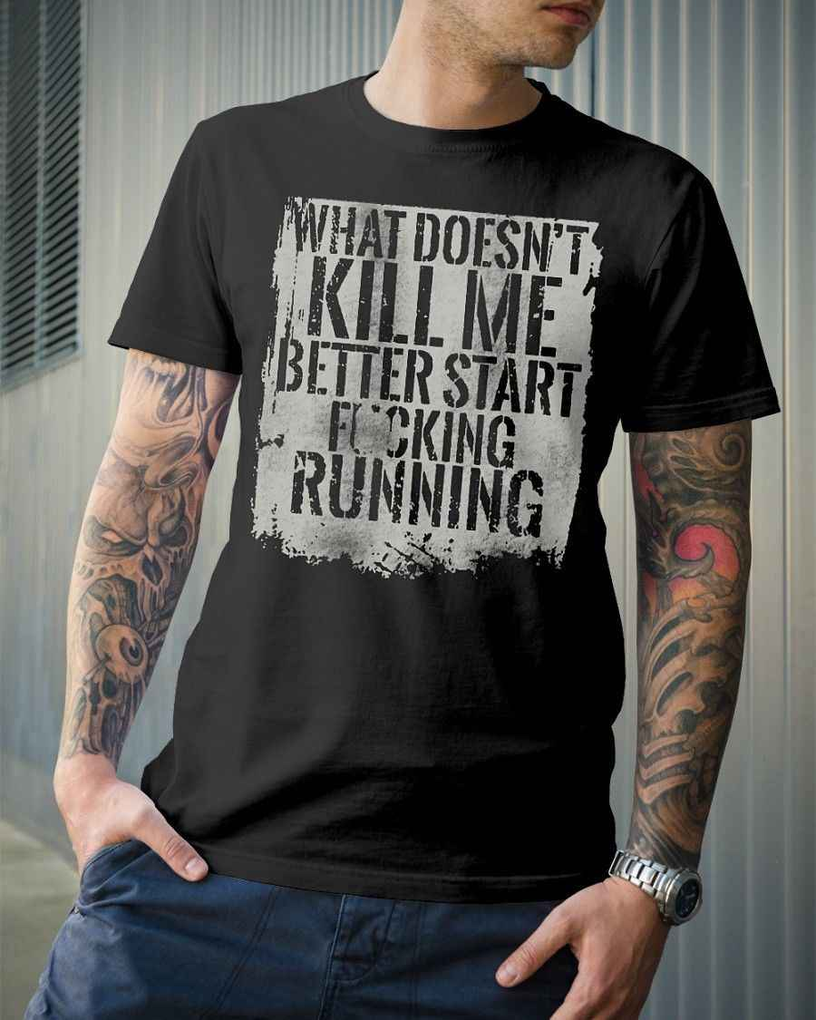4b9527506fa6 START RUNNING-Grunt Style T-Shirt Cool Casual pride t shirt men Unisex New