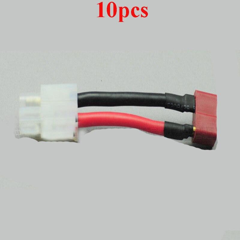 10pcs big tamiya head turn t plug wire battery esc. Black Bedroom Furniture Sets. Home Design Ideas