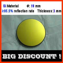 Diameter 19 mm silicon CO2 laser reflecting len with gold coating  for laser engraver cutting Machine FREE SHIPPING