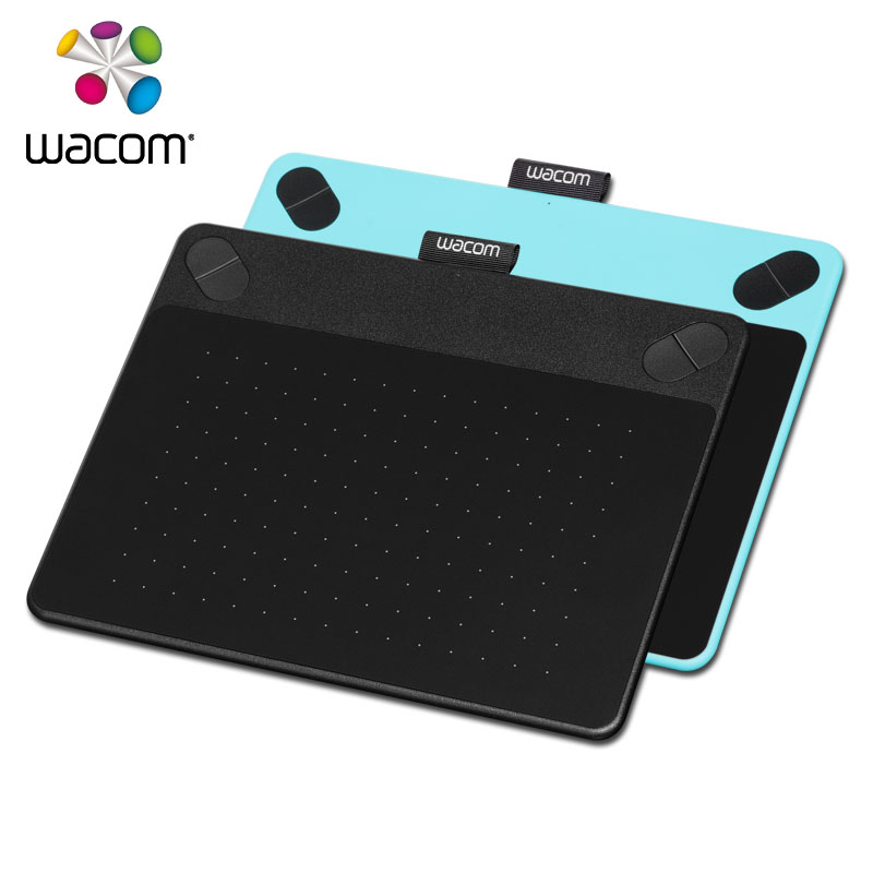 Wacom Intuos Art CTH 490 Pen & Touch Digital Graphic Drawing Tablet 2048 Pressure Levels Black / Blue Color + 10Pcs Black Nibs