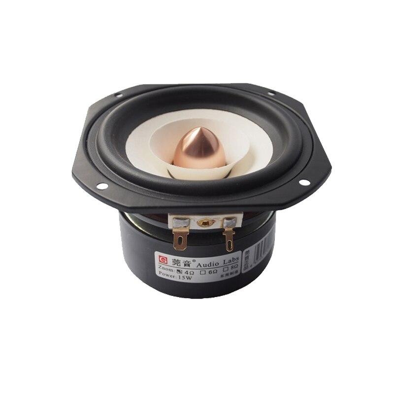 HIFI Audio Labs высокопроизводительный 4-дюймовый Полнодиапазонный динамик 1 пара смешанных бумажных конусных алюминиевых пуль 4/8ohm 25W 4