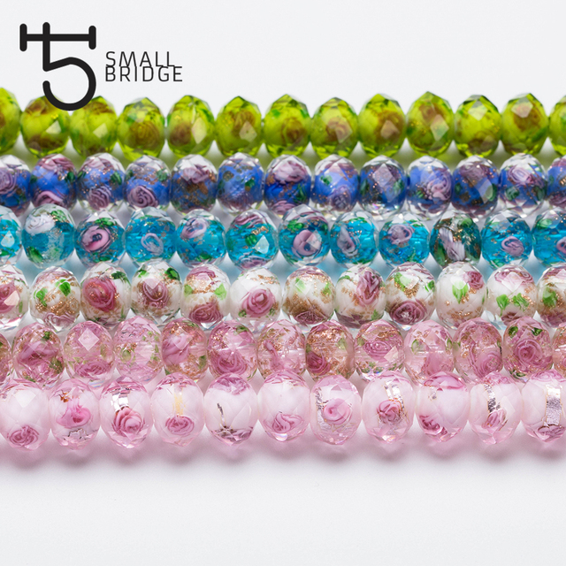 12mm Faceted Flower Lampwork Gl Bead Jewelry Making Transpa Large Crystal Rondelle Beads For Bracelets Whole