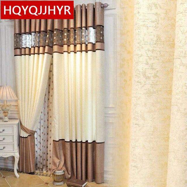 Nähen luxus Europäischen stil flache vorhang für Wohnzimmer High end ...