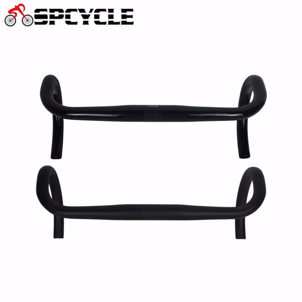 Guidon de vélo de route en Fiber de carbone Spcycle UD, composants et pièces de vélo guidon de vélo en carbone 31.8*400/420/440mm