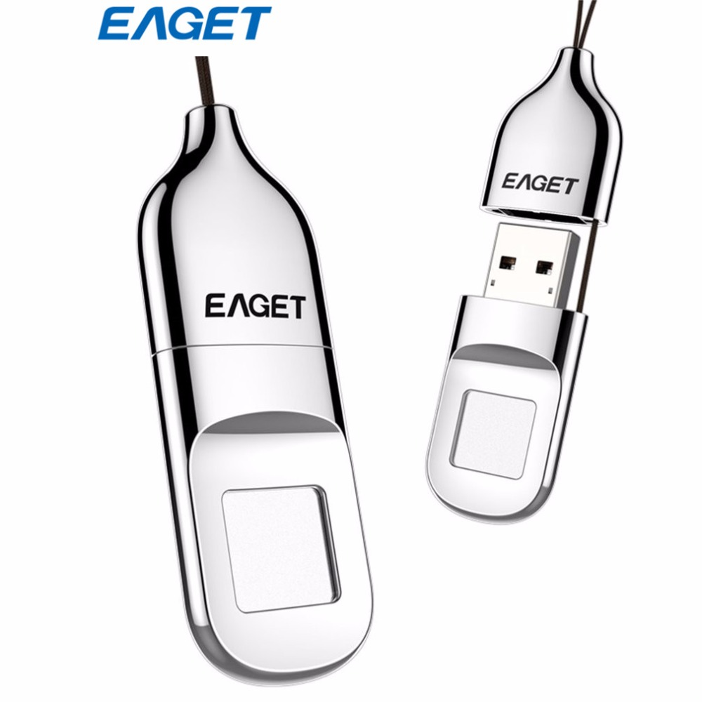 Original 100%New EAGET 64GB USB Flash Drive U disk Pendrive Recognition Fingerprint Encryption Flash Disk USB Memory Stick eaget u66 16gb usb 3 0 usb flash drive u disk memory stick pen drive