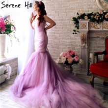 SERENE HILL Colorful Croset Bodice Mermaid Wedding Dress