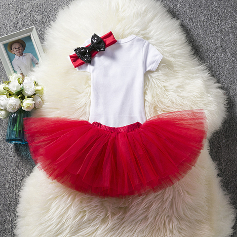 Infant Clothing Sets One Year Baby Romper+Fancy Tutu Dress +Headband Suits Baby Gift Sets Newborn Baby Girl 1st Birthday Outfits Lahore