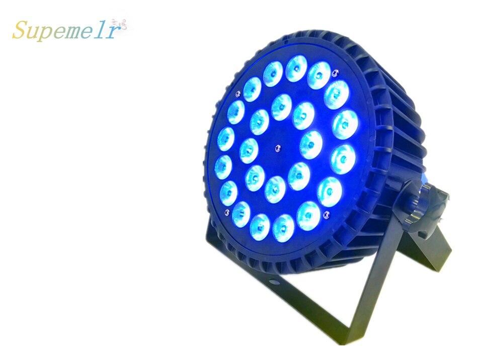 En aluminium LED Par 24x12 W RGBW couleur éclairage dj DMX512 canal pour active disco boule discothèque salle de bal stade
