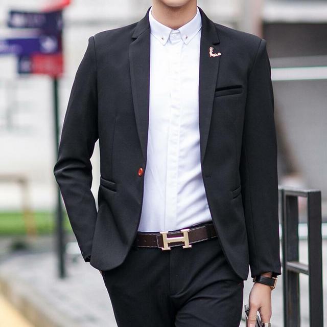 Мужчины Костюм Куртки Пиджаки Платье Костюмы мужские Повседневная Мода Одна Кнопка Стиль Casual Slim Мужские Куртки пользовательские