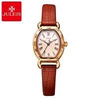 2017 Big Sale Women Genuine Leather Roman Antique Watch Girl's Dress Fashion Casual Quartz Watches Original Quality Julius 544