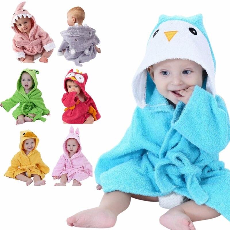 efa52e83c0fa Pajamas Robe Girls Bathrobes Baby Homewear Boys Girls Cartoon Home ...