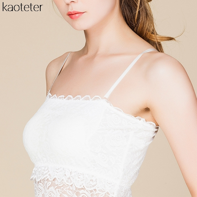 100% Real Silk Women's Tube Tops Femme Sexy Lace Wrap Chest Women Sling Inner Tops Female Wild Basic Halter Camis With 2 Pads