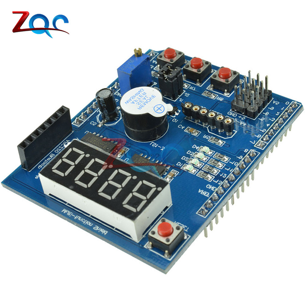 Multi Function Shield with Buzzer LM35 4 Digit Digital LED Expansion Board Voice Module for Arduino UNO R3 Lenardo Mega2560 relay shield v1 0 5v 4 channel relay module for arduino works with official arduino boards