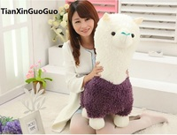 Stuffed Toy Large 65cm Cartoon Purple Alpaca Sheep Plush Toy Soft Throw Pillow Birthday Gift H2970