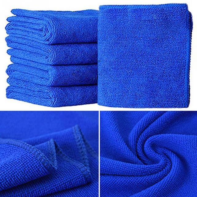Home Wash Towel 25cm x 25cm Microfibre Cleaning Auto Car Detailing Soft Cloths Wash Towel Duster Blue promotion low price