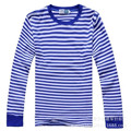 2016 Sales Men's Wear Round Neck Long Sleeve Naval Unlined Upper Garment Of T-shirt Guernsey Blue And White Stripes SMLXL.2L.3XL