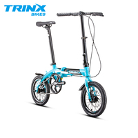 TRINX складной велосипед 14 Алюминий сплава складной велосипед F/R Дисковые тормоза компактный складной велосипед Малый Размеры городской при