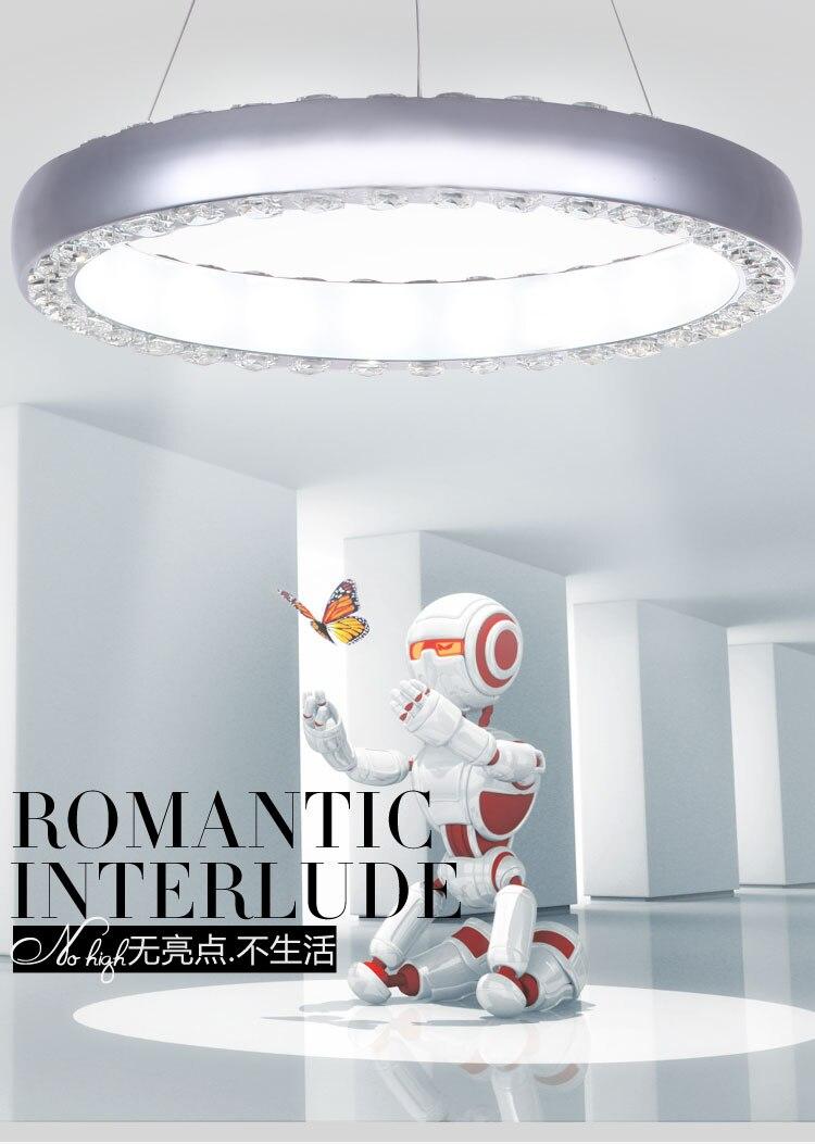 LED 30 Watt Pendelleuchten/K9 Kristall Licht/LED Moderne Wohnzimmer/ Esszimmer/Küche/Arbeitszimmer/Büro Metall Größe 68*68*5 Cm
