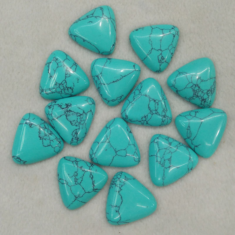 wholesale 20pcs/lot 2016 fashion blue sand stone triangle cab cabochon beads for jewelry Accessories making 25mm free shipping