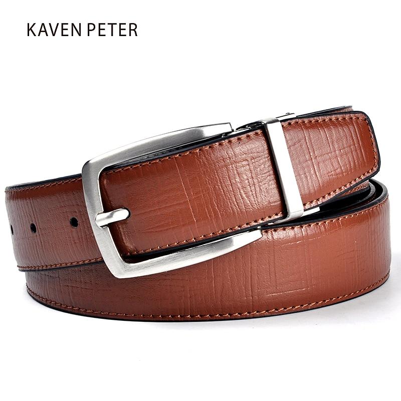 Nuevos hombres Cinturón de cuero Diseñador de la marca de lujo Famosa marca de cuero genuino Cinturones de lujo Pantalones marrones Hombres Cuero genuino