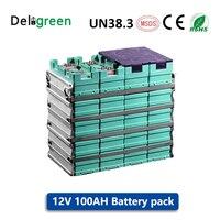 GBS 12V 100AH 3.2V LiFePO4 배터리 팩 전기 자전거/도구/잔디 깎는 기계/전기 자동차/태양 에너지/EV 자동차에 대 한 리튬 배터리