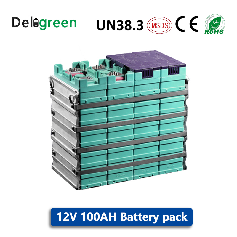GBS <font><b>12V</b></font> <font><b>100AH</b></font> 3.2V <font><b>LiFePO4</b></font> <font><b>Battery</b></font> Pack Lithium <font><b>battery</b></font> for electric bicycle/tool/mower/electric car/Solar energy/EV Car image