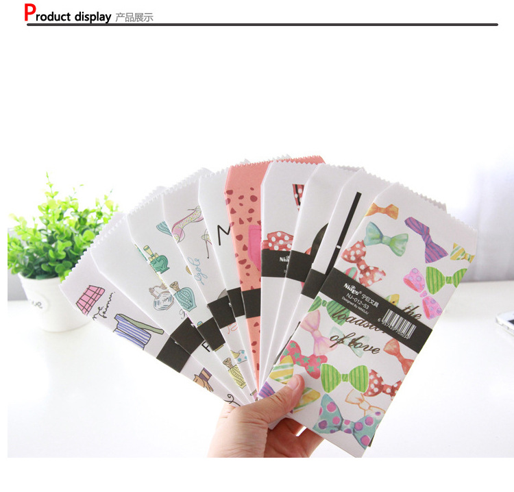 10pcs Mix New Creative Lady Series Envelope  For Card Scrapbooking Gift Korean Statonery  Papelaria
