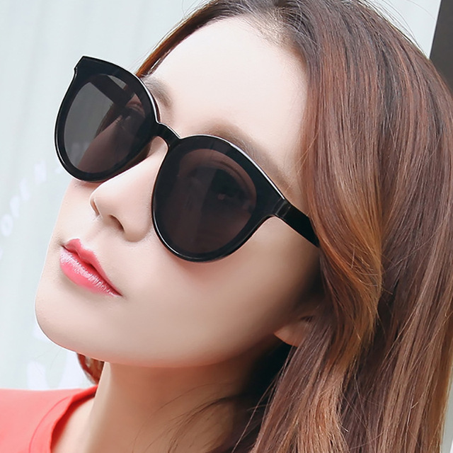 Fashion Cat Eye Sunglasses Women Brand Designer Colorful Ocean Lens Lady Round Mirror Sun Glasses Feamle Gafas UV400