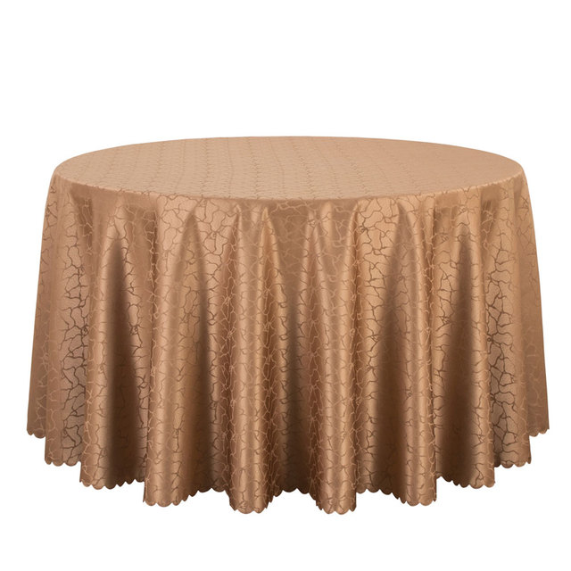 Brand new 10PCS Polyester Solid Jacquard Damask Table Cloth Round Dining  IH09