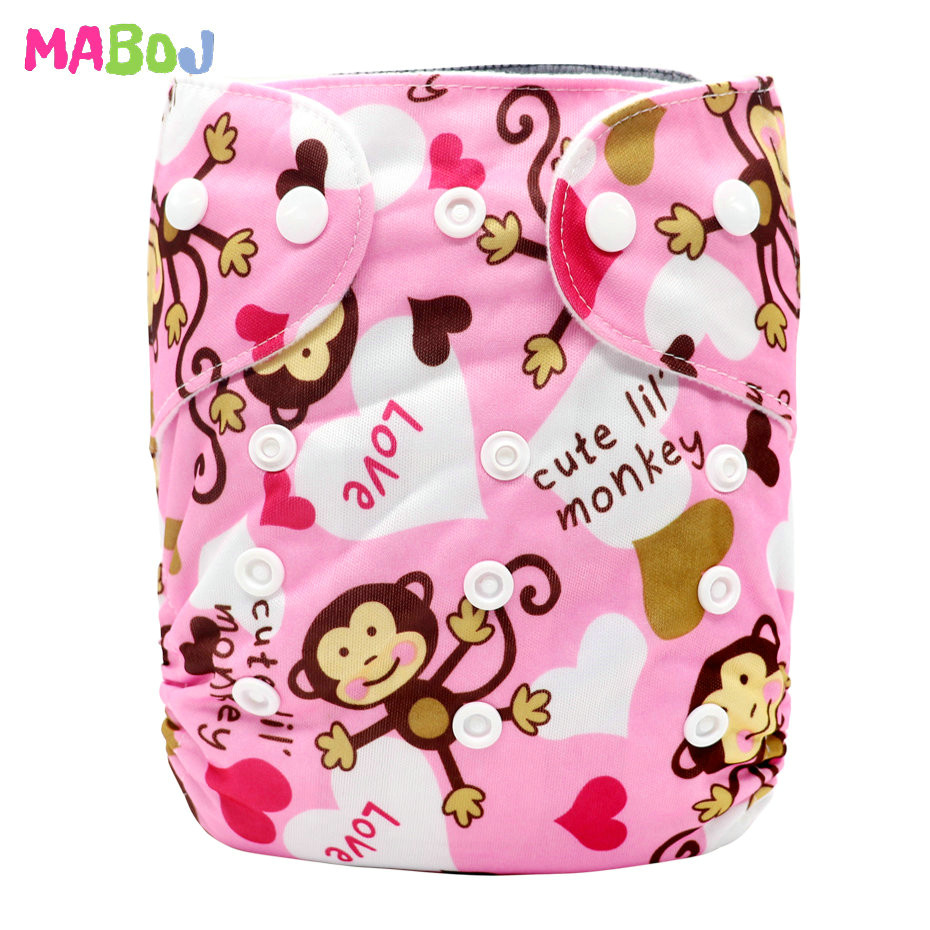 MABOJ Diaper Baby Pocket Diaper Washable Cloth Diapers Reusable Nappies Cover Newborn Waterproof Girl Boy Bebe Nappy Wholesale - Цвет: PD5-5-18