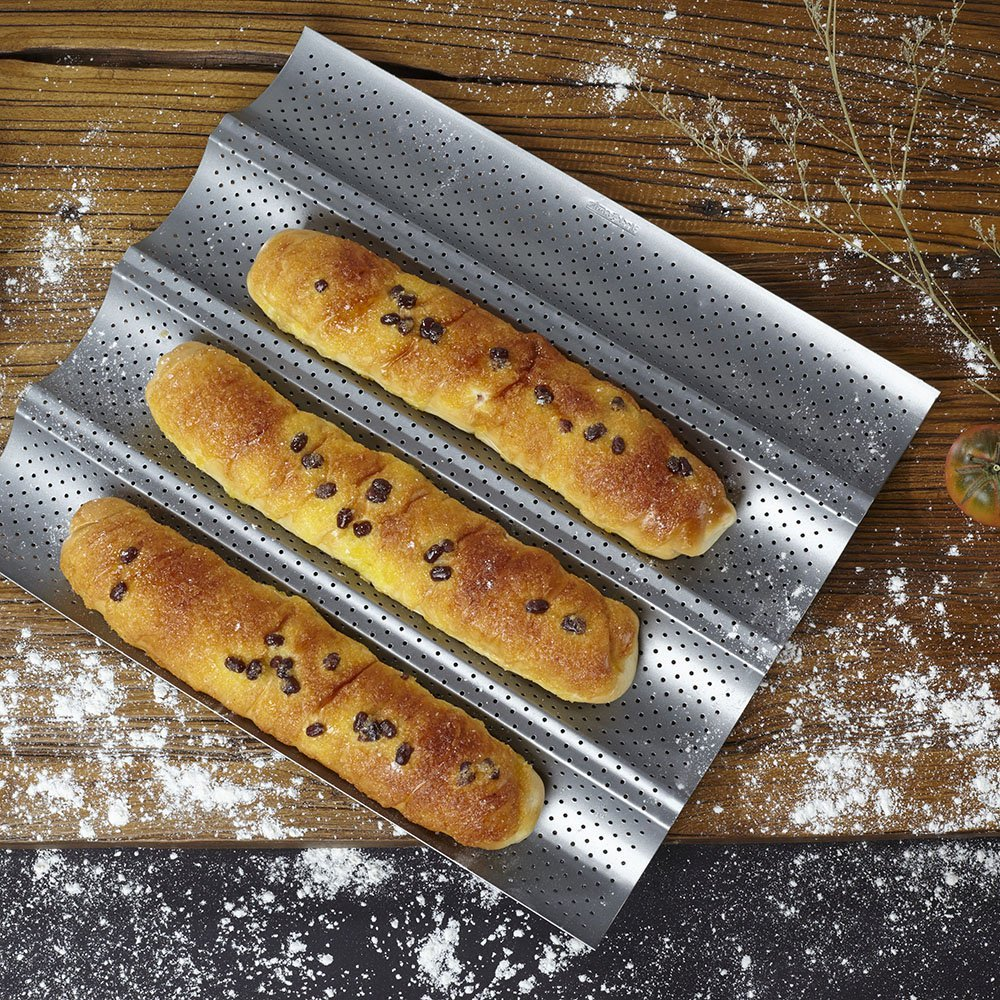 15 Quot By 13 Quot Non Stick Perforated Baguette Pan For French