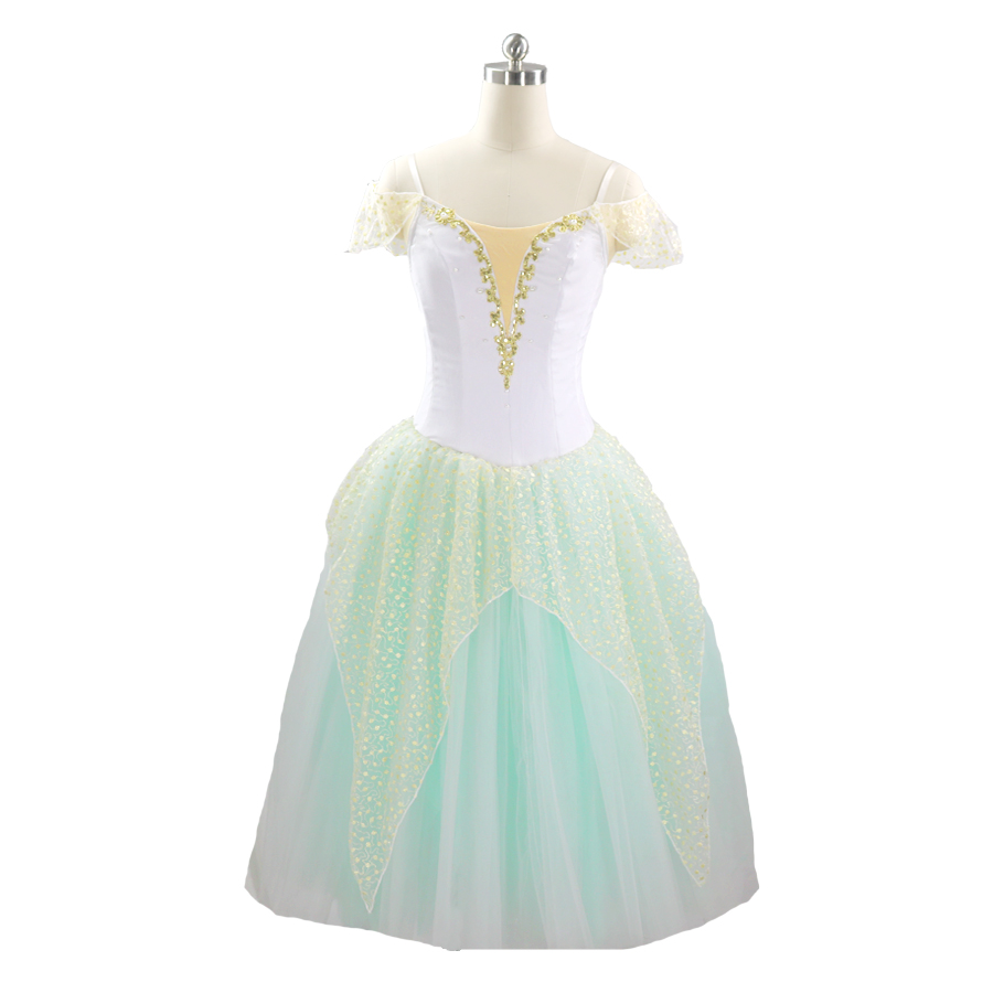 Green Fairy Professional Ballet Tutus Adult Performance Stage Romantic Tutu Girls Dance Costumes Clothes Women