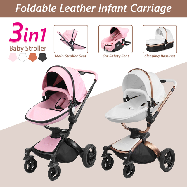 2 in 1/3 in 1 Baby stroller With Car Seat High Landscope Folding Baby Carriage For Child From 0-3 Years Prams For Newborns 1