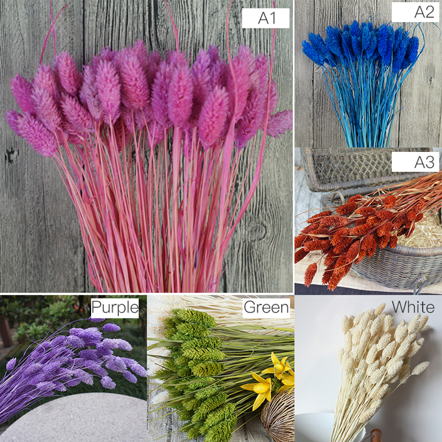 1 Bunch(1 Bunch=20Pcs) Natural Simulation Plants Dried Flowers Bouquets  For Home Decoration Living Room Wedding