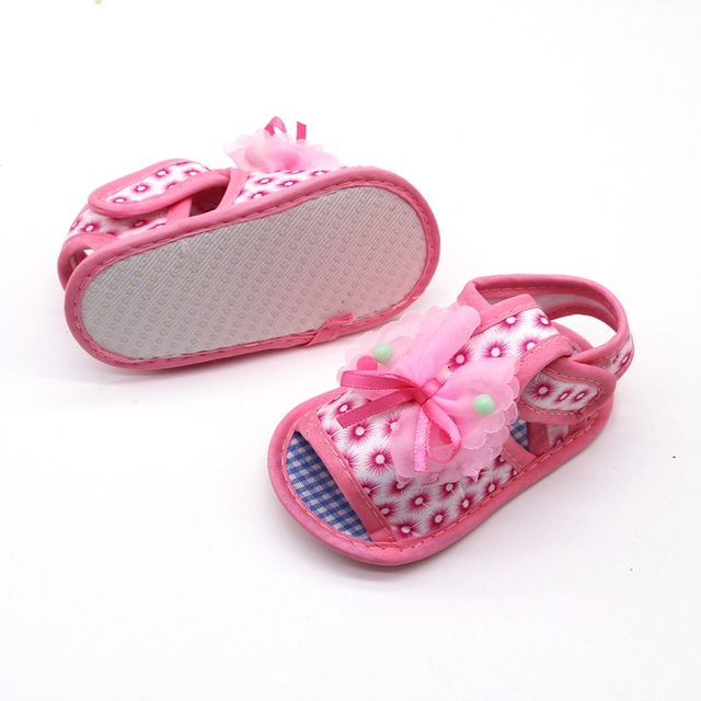 2019 Cotton Baby Girls Shoes Infant First Walkers Toddler Girls Kid Bowknot Soft Anti-Slip Crib Shoes 1