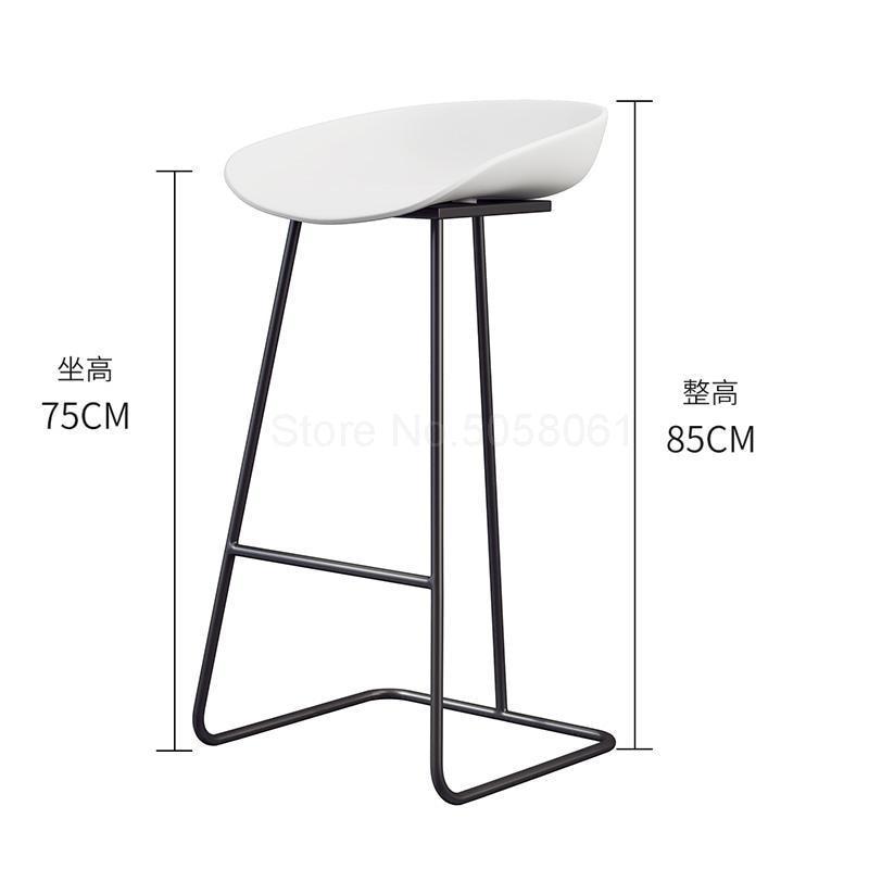 Скандинавский барный стул из кованого железа креативный простой барный стул кафе Золотой барный стул передний высокий стул - Цвет: ml9