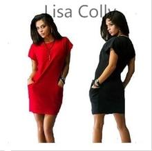 Lisa Colly New 2016 Autumn Dress Women Dress Plus Size Sexy Casual Party Dresses Cotton  Dress  Vestidos
