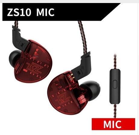 5 unité d'entraînement en métal filaire écouteurs KZ ZS10 4BA avec 1 Hybride Dynamique in-ear écouteurs HIFI DJ de course écouteur de sport