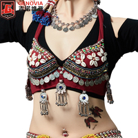 ATS Trible Hand Made Shell Coin Beading Belly Dancing Costumes underwear Bra top New arrivals 2019